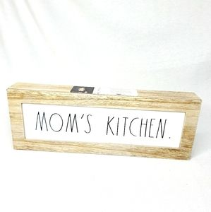 Rae Dunn Mom's Kitchen Wood Sign New